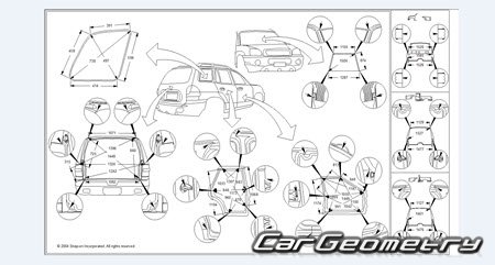 Кузовные размеры Kia Sportage (AL) 1994–2002