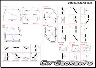 Кузовные размеры Scion xB (AZE151) 2008-2015