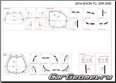 Кузовные размеры Scion tC (AGT20) 2011-2013 Collision