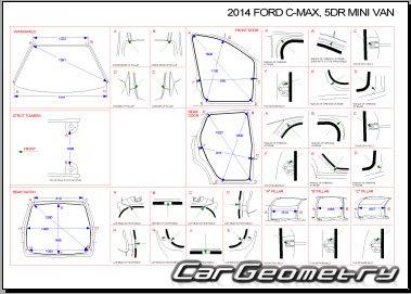 Размеры кузова Ford C-MAX с 2010 (Второе поколение) Body