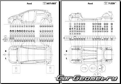 Размеры кузова Ford Fiesta с 2013 Body Repair Manual