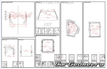 Геометрия кузова Форд Транзит 2014-2021 Body Repair Manual