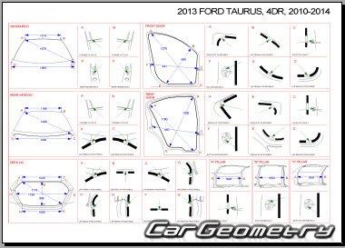 Кузовные размеры Ford Taurus 2010-2015 (Шестое поколение)