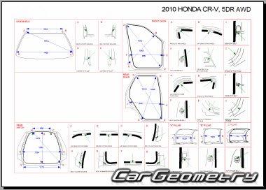 Контрольные размеры кузова Honda CR-V 2007-2011 Body