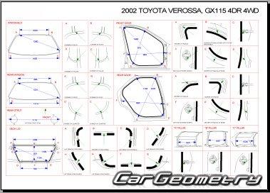 Toyota Verossa (GX115) 2001–2004 4WD