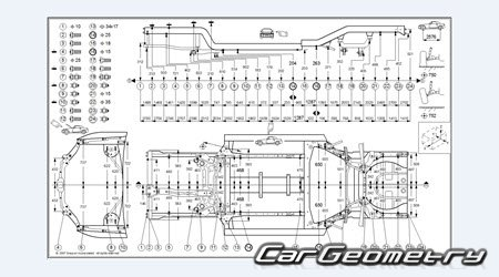 Контрольные размеры кузова Mitsubishi Eclipse GT 2006-2012