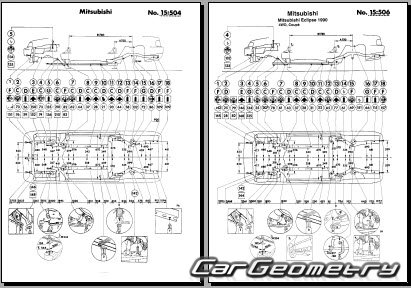 Mitsubishi Eclipse I 1989-1995 Body Repair Manual