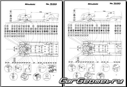 Размеры кузова Mitsubishi Lancer 1991-2000 (Sedan и Wagon