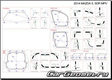 Кузовные размеры Mazda 5 c 2010 Второе поколение