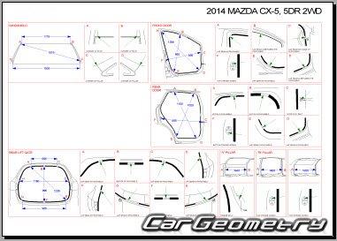 Размеры кузова Mazda CX-5 2012-2018 Bodyshop Manual