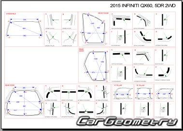 Кузовные размеры Infiniti QX60 (L50) 2014-2016 Body Repair