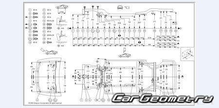 Размеры кузова Nissan Maxima QX (Nissan Cefiro), Infiniti