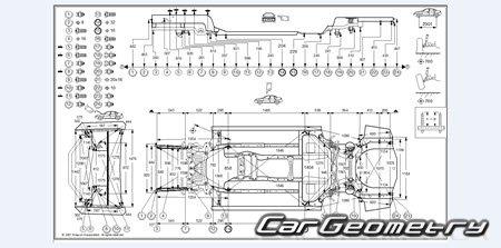 Кузовные размеры Infiniti M35, M45 (Nissan Fuga) 2005–2010