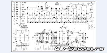 Кузовные размеры Infiniti QX4 1997–2003 кузов (R50) и