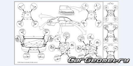 Кузовные размеры Infiniti M45 2003–2005, Nissan Cedric