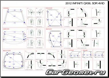 Кузовные размеры Infiniti QX56 с 2011 кузов (Z62)