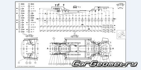 Геометрические размеры кузова Infiniti G35, Nissan Skyline