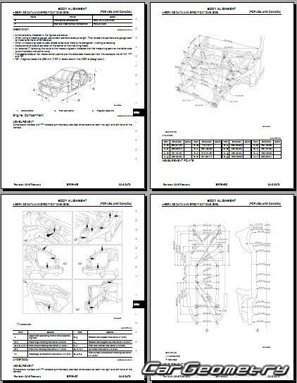 Геометрические размеры кузова Infiniti QX70 (S51) 2013-2016