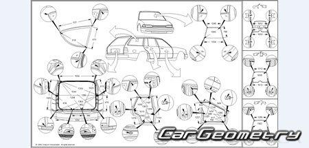 Кузовные размеры Subaru Tribeca (B9) 2006–2007 Body Repair
