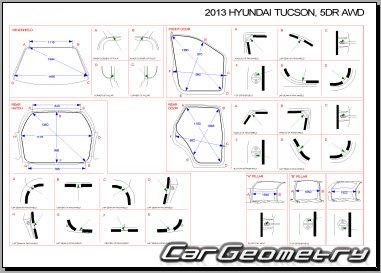 Кузовные размеры Hyundai ix35 (EL) / Hyundai Tucson (LM) с