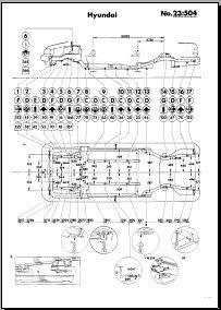 Кузовные размеры Hyundai Sonata (Y2) 1989-1994