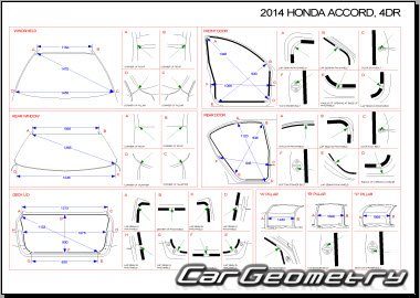Геометрические размеры Honda Accord (CR/CT) 2013-2017 Body
