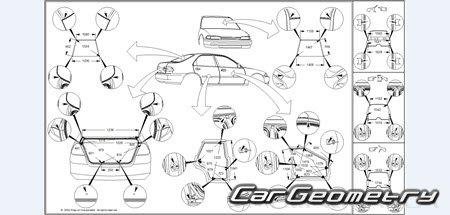 Кузовные размеры Honda Accord sedan (CS) и Coupe (CM) 2003