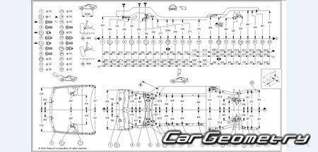Геометрические размеры Honda Prelude 1997-2001 Body Repair