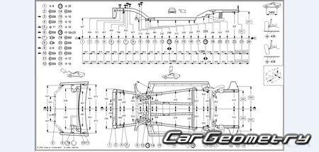 Геометрические размеры Honda Insight (ZE1) 2000-2006 Body