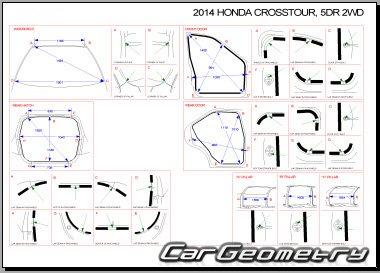 Кузовные размеры Honda Accord Crosstour (TF) 2010-2016