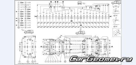 Геометрические размеры Honda CR-V 2002-2006 Body Repair Manual