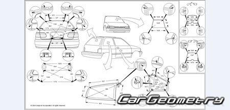 Геометрические размеры Honda Civic 1992-1995 (Sedan, Coupe