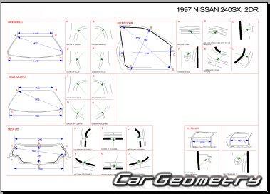 Кузовные размеры Nissan 200SX, 240SX, Silvia (S14) 1993