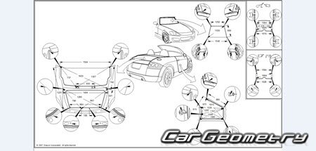 Размеры кузова Nissan 350Z (Z33) 2003–2009 Coupe Z33C и