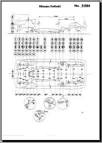Контрольные размеры кузова Nissan Micra (March) K11 1993