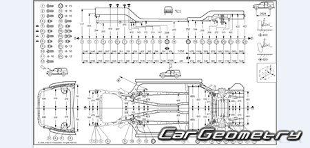 Размеры кузова Nissan Murano (Z50) 2003–2008 Body Repair
