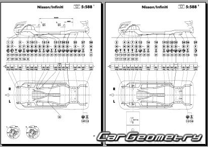Кузовные размеры Nissan Pathfinder (R52) с 2013 Body