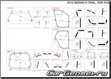 Кузовные размеры Nissan X-Trail (T31) 2007–2013 Body