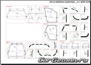 Кузовные размеры Nissan Qashqai (J11) 2014-2020 Body