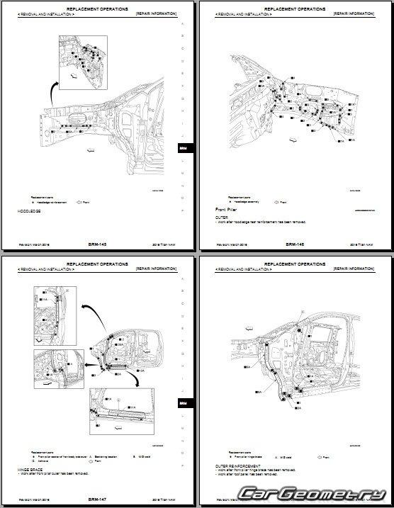 Кузовные размеры Nissan Titan XD (A61) 2016-2020