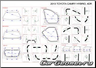 Кузовные размеры Toyota Camry Hybrid (AVV50) 2012-2015
