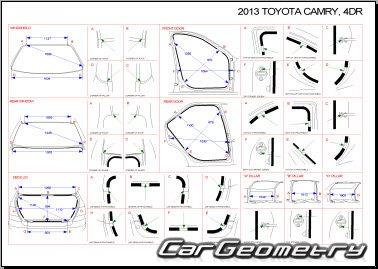 Размеры кузова Toyota Camry (ACV50 ASV50 ASV51 GSV50) с