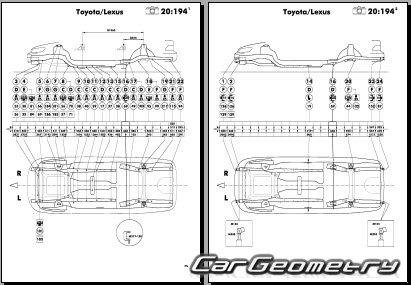 Кузовные размеры Toyota Camry Solara (SXV20 MCV20) 1999