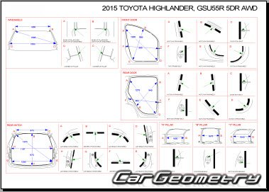 Toyota Highlander Hybrid с 2014 Collision Repair Manual
