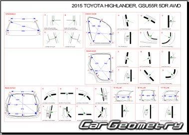 Toyota Highlander Hybrid с 2014 Collision Repair Manual