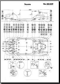 Кузовные размеры Toyota MR2 1991-1999 (SW20, SW21