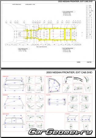 Геометрические размеры Nissan Pickup Navara / Frontier