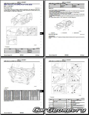 Nissan Quest (E52) 2011-2017 Body Repair Manual