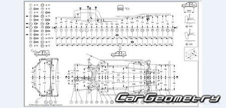Геометрические размеры кузова Toyota RAV4 2000–2005 (ACA2
