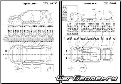Кузовные размеры Toyota RAV4 2006-2008 кузова GSA33'38